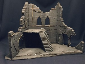 Undead City Ruins, set 1, painted