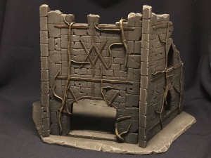 Undead City Ruins, set 2, painted
