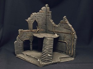 Undead City Ruins, set 3, painted
