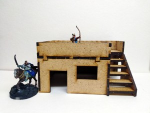 Desert City – Small Desert House with stairs (28mm)
